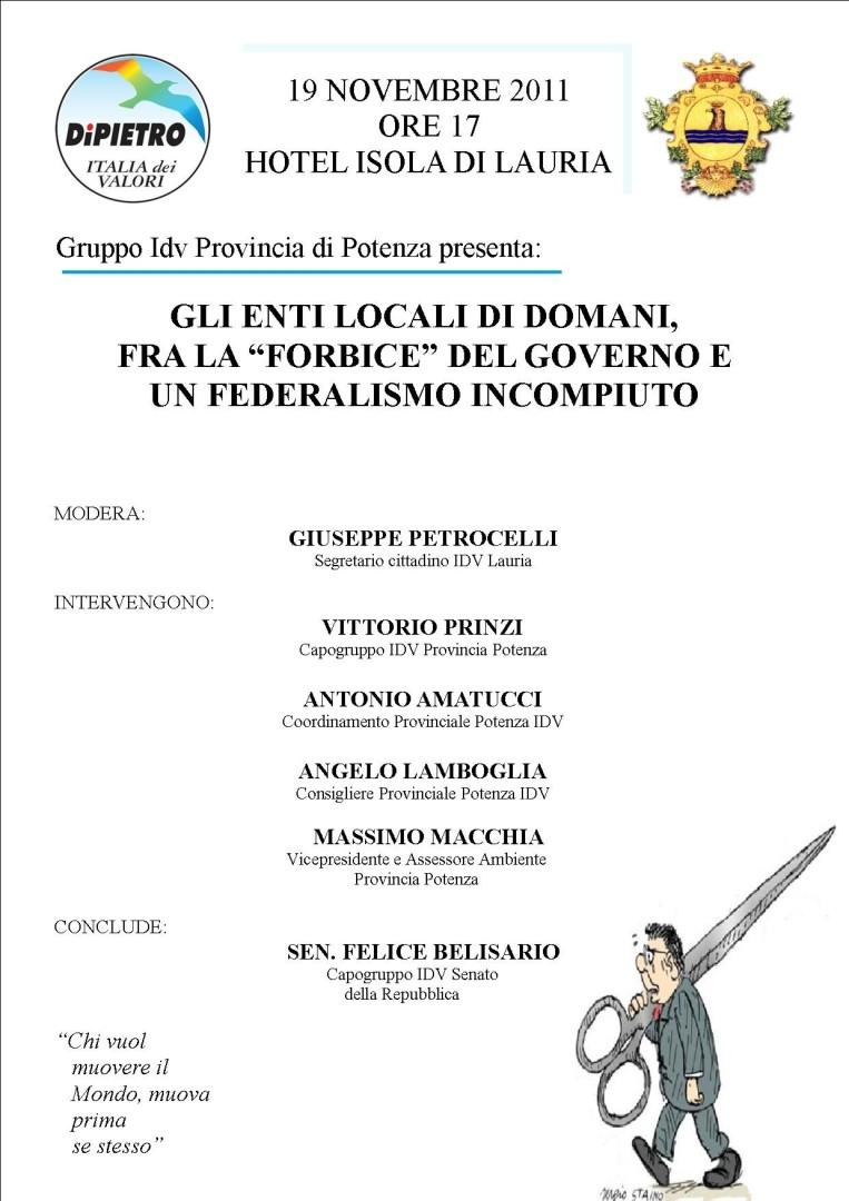 MANIFESTO CONVEGNO 19.11.2011