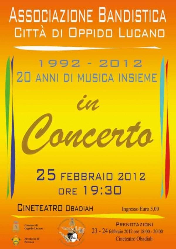 Concerto banda 25 febbraio 2012