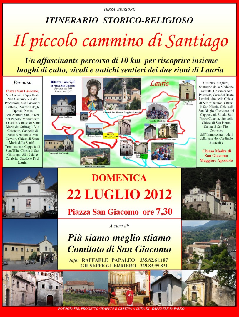 Mail Locandina Piccolo Cammino Santiago 2012