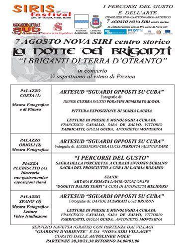 programma notte dei briganti 2012