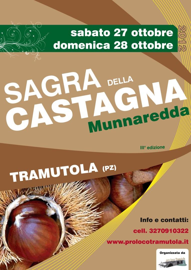 MANIFESTO SAGRA CASTAGNA MUNNAREDDA 2012
