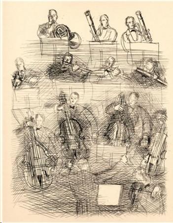 Raoul Dufy, Musicisti, 1940