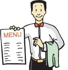 menu cameriere