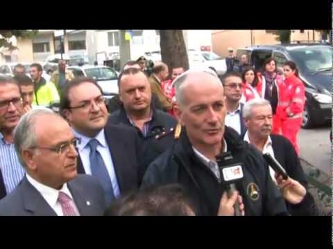Il Capo della Protezione Civile Franco Gabrielli in visita a Lagonegro e a Rotonda