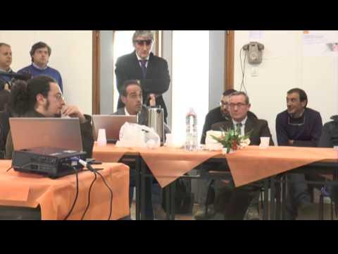 Conferenza stampa dei sindaci all'interno della Centrale del Mercure