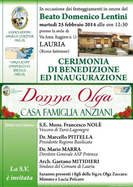 Invito inaugurazione CFA Donna Olga