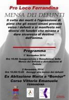 """""""Mensa dei defunti"""" organizzata dalla Pro Loco di Ferrandina"""