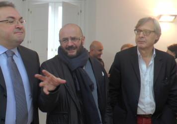 Gustoso siparietto tra Vittorio Sgarbi e Nicola Timpone a Latronico