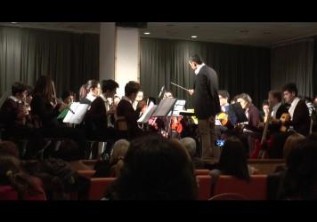I musicisti-studenti dell'Istituto Comprensivo Nicola Sole di Senise a Lauria