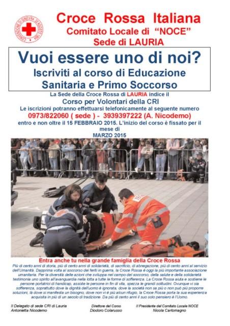 manifesto corso LAURIA