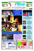 L'Eco – Anno XIII n. 16 – 01 settembre 2014