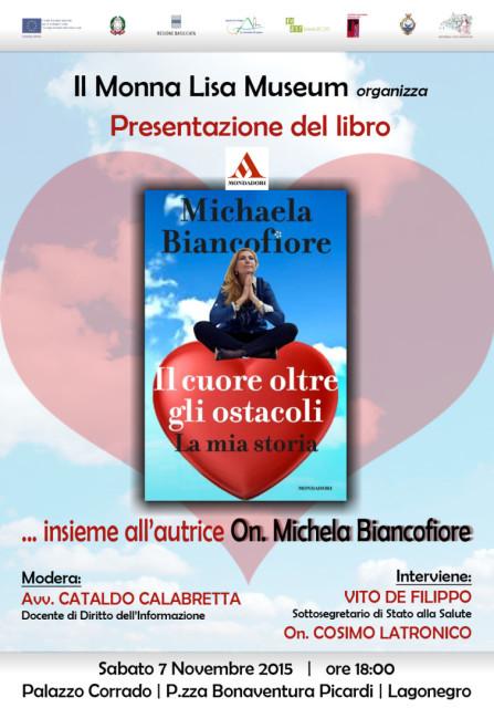 Monna Lisa Museum presenta il libro - Il cuore oltre gli ostacoli - di Micaela Biancofiore_7.11.2015