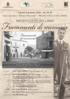 """Francavilla in Sinni, Vincenzo Viceconte presenta il libro """"Frammenti di memoria"""""""