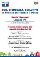 A Latronico si parlerà di emigrazione in una conferenza di alto profilo