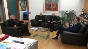 L'Arcivescovo Ligorio in visita dal presidente della Regione Pittella