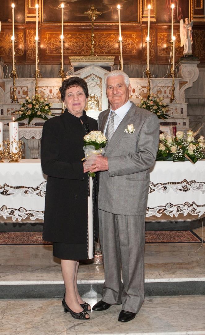 Auguri Matrimonio Rumeno : Carmelina e antonio romano festeggiano anni di