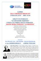 SALA BRANCATI – LAURIA. Giovedì 3 Maggio 2018 ore 18.00: Incontro su Padre Turoldo