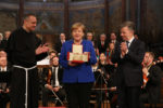 Le eccellenze della Basilicata ad Assisi per la consegna della Lampada della Pace a Angela Merkel