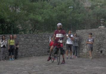 Vittorio Brumotti di 'Striscia' a Lauria