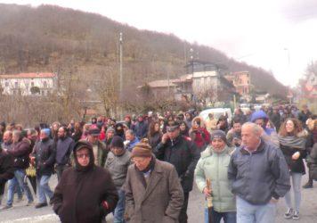 Frana strada di Galdo di Lauria: il comitato manifesta e chiede l'immediato inizio dei lavori per il ripristino della circolazione